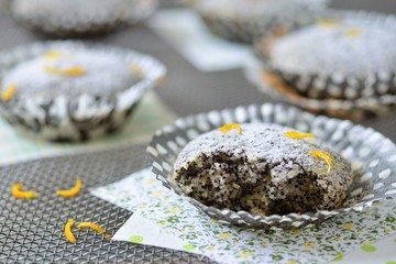 Muffins with poppy seeds