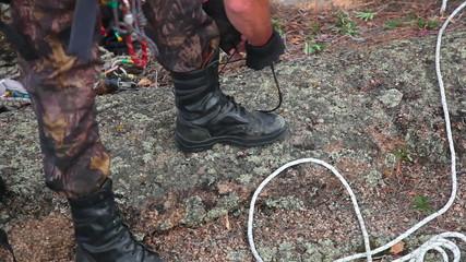 Rock climber boots
