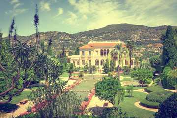 Panoramic view of the villa Ephrussi de Rothschild