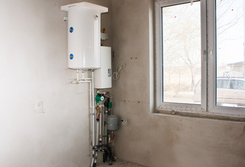 boiler with system of heating tubes