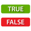 True and false icons - 81251897