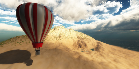 sky and air balloon