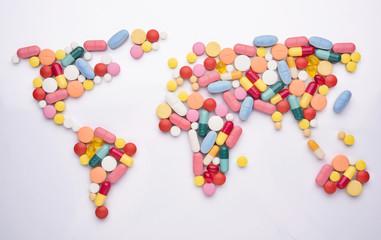 World map medicine