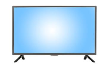 Modern TV set isolated at white background