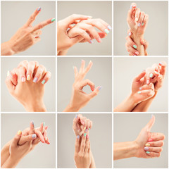 Photo collage of a woman's hands