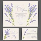 Fototapety Wedding invitation card