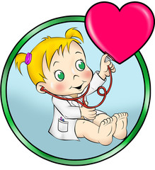 Menina médica no útero