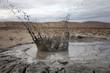 mud slash volcano, Gobustan, Azerbaijan