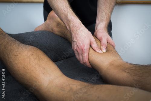 Постер, плакат: massage technique, холст на подрамнике