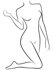 Lower part of slender female body