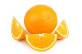 One whole orange and few slices