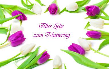 Tulpenherz zum Muttertag