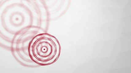 falling and rotating red target on a light background