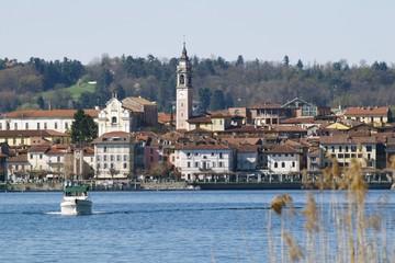 arona, lago maggiore, italy