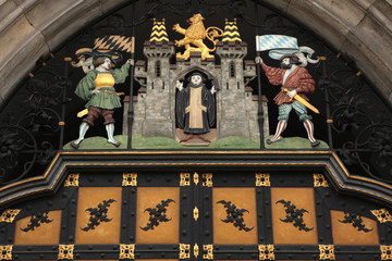 Coat of arms of Munich on the Neues Rathaus