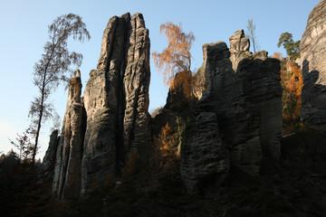 The Prachov Rocks in Central Bohemia, Czech Republic.