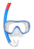 Dive Mask on a white background with space for your text.