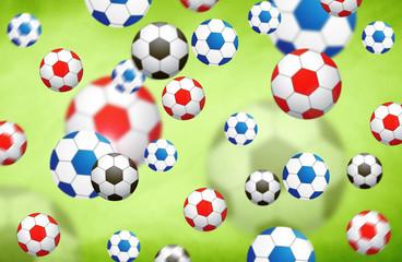 Colorful blurred soccer balls illustration