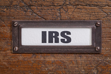 IRS - file cabinet label