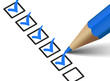 Checklist With Blue Checkmark Icon - 81260071