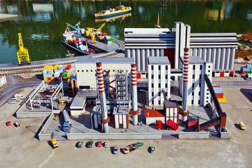Industrial plant miniature model