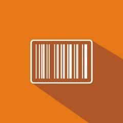 Icono código de barras naranja sombra