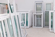 Leinwanddruck Bild - Set of PVC Windows in a Factory Interrior