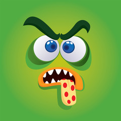 Green Angry Monster