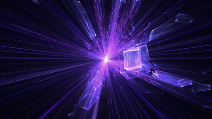 Violet and Purple Blast With Rays Of Light, Explosion