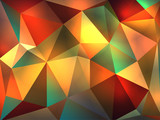 Fototapety Abstract Geometric Glowing Triangles Illustration