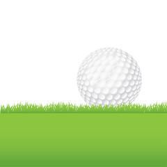 Golf Ball Sitting on a Grass Background Illustration
