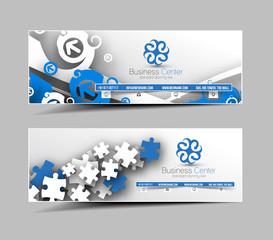 Global Business Web Banner & Header Layout .