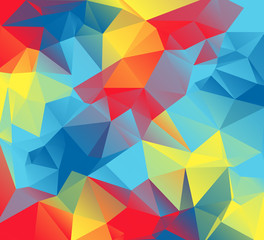 Abstract Triangular Background Illustration with Autism Awarenes