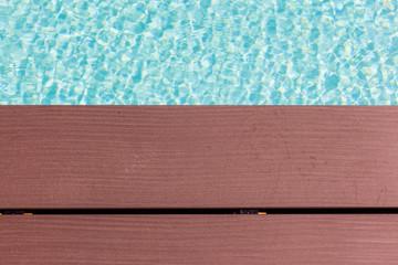 Wooden poolside planks