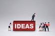 Businesspeople carry business ideas
