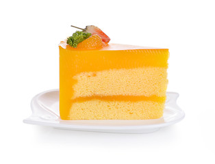 Orange Cake isolated on white