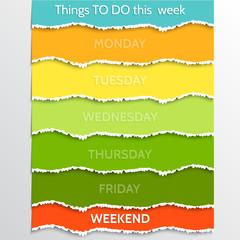 Vector abstract multicolor todo resolution list