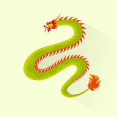 dragon color icon flat design vector