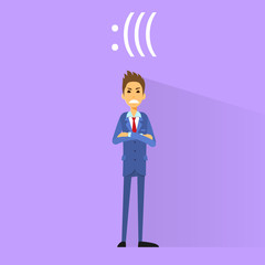 angry negative emotion business man flat design