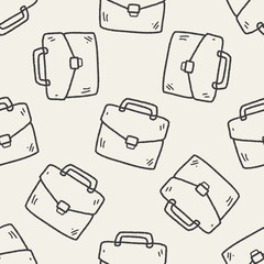 doodle briefcase seamless pattern background