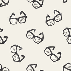 Doodle Glasses seamless pattern background