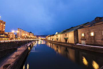 Twilight hour in Otaru canal