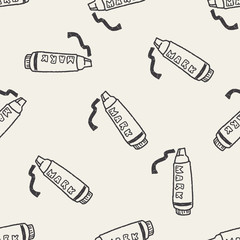 doodle highlighter pen seamless pattern background