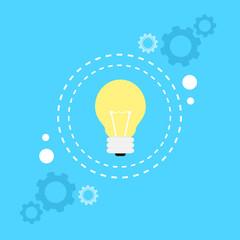 bulb light lamp idea concept flat icon