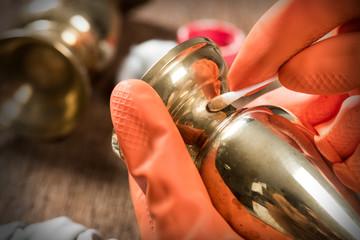 polishing brass