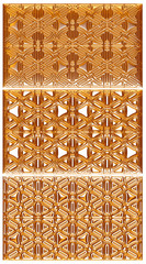 Golden vintage pattern, ornate metal carving background.