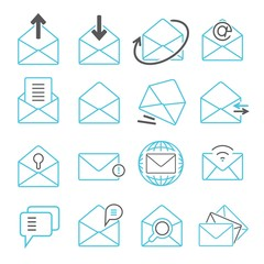 letter, email icons