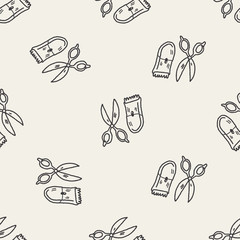 doodle pet grooming seamless pattern background