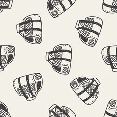 doodle pet carrier seamless pattern background