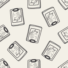 doodle document seamless pattern background